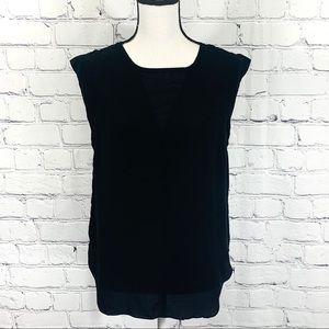 Pixley Silk Blouse in Black Sz. Large